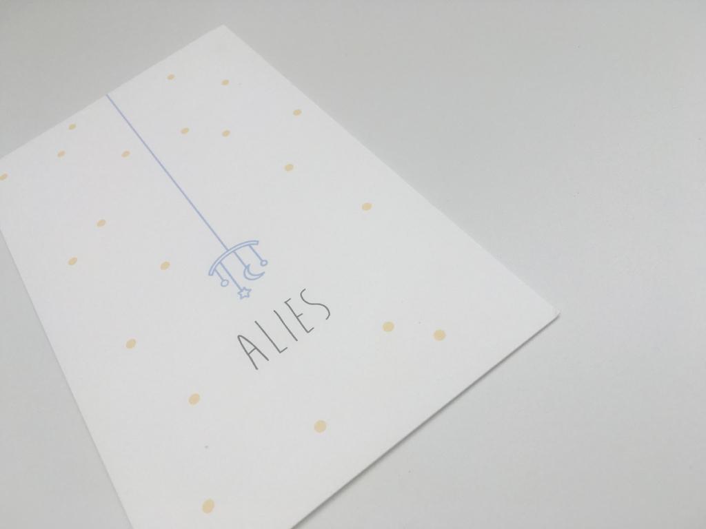 geboortekaartje Alies