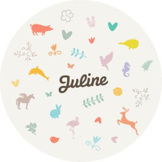 Geboortekaartje voor Juline (2013)