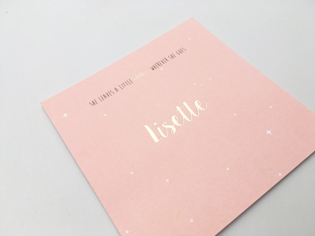 Geboortekaartje Lisette