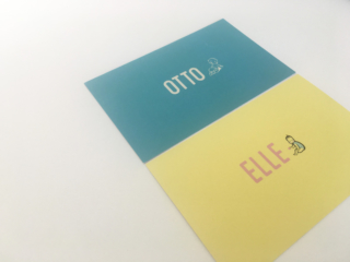 geboortekaartje Otto en Elle
