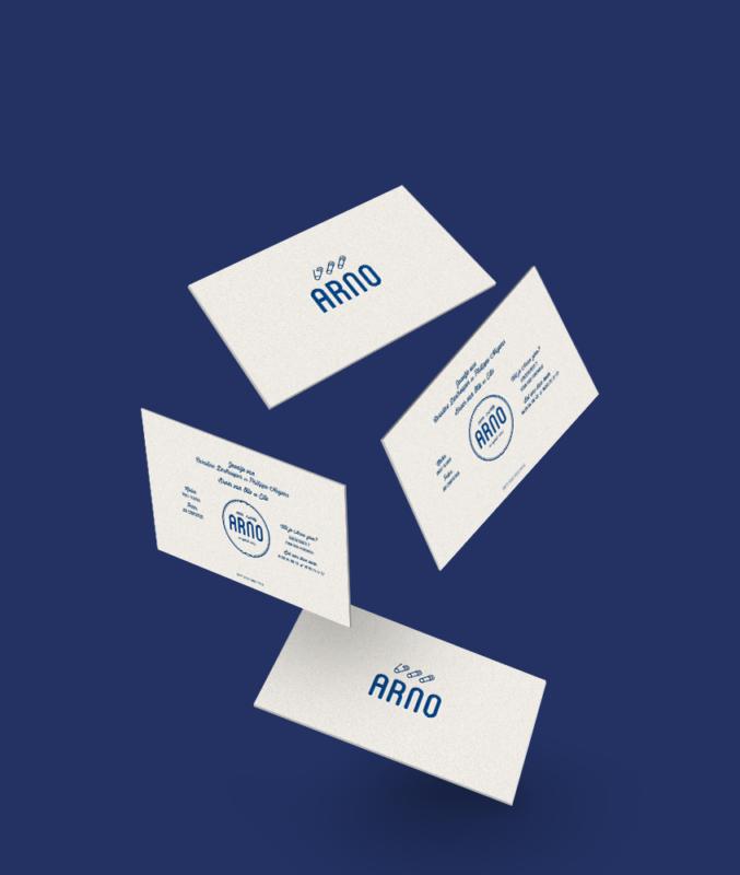 Geboortekaartje letterpress Arno